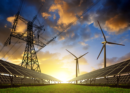 Renewable Electricity Grid with Wind and Solar Power