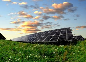 Solar field in Massachusetts