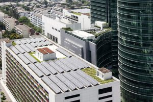solar roof for a corporation