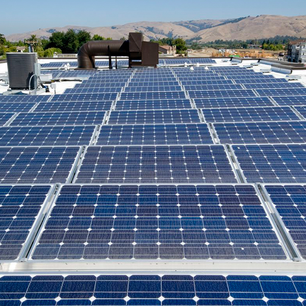 Commercial Solar Panels on Roof