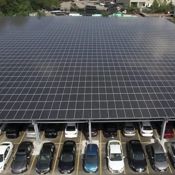 Commercial Solar Panels in Parking Lot