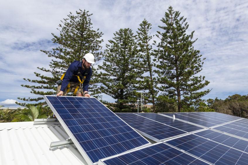 Solar installation on home